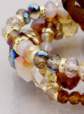 Glass 3 Row Stretch Bracelet - Fierce Finds Mobile Boutique  - 2