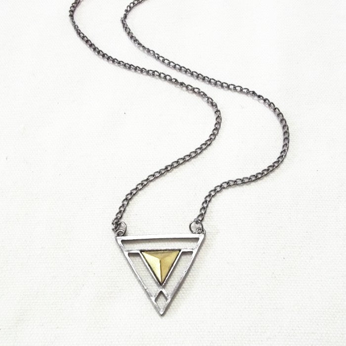 Double Triangle Long Chain - Fierce Finds Mobile Boutique  - 8
