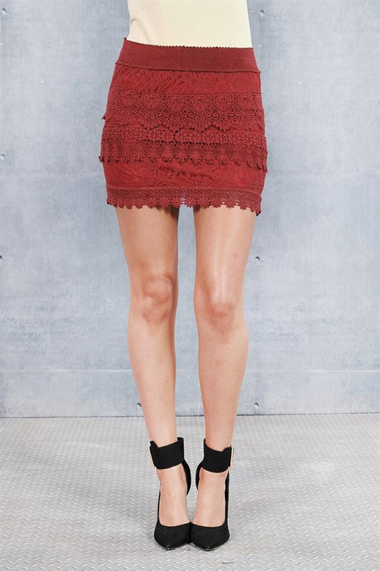 Crochet Wine Skirt - Fierce Finds Mobile Boutique  - 2