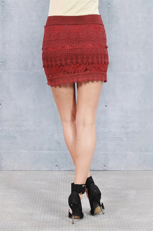 Crochet Wine Skirt - Fierce Finds Mobile Boutique  - 4