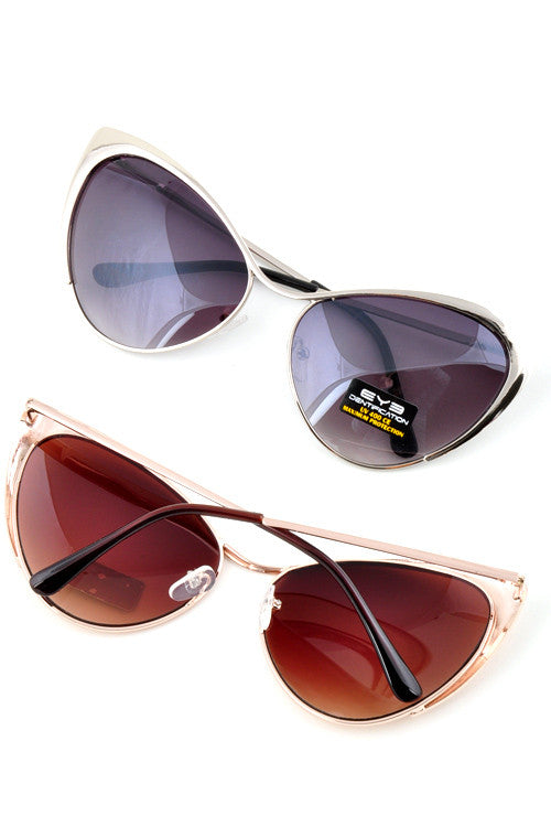 Cat Eye Tinted Sunglasses - Fierce Finds Mobile Boutique  - 17