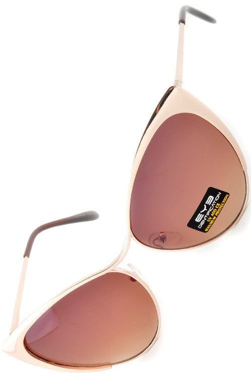 Cat Eye Tinted Sunglasses - Fierce Finds Mobile Boutique  - 15