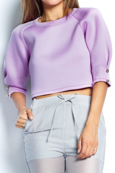 Lavender Scuba Top - Fierce Finds Mobile Boutique  - 3