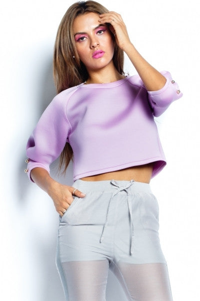 Lavender Scuba Top - Fierce Finds Mobile Boutique  - 2