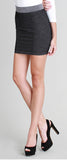 Two Tone Black Skirt - Fierce Finds Mobile Boutique  - 2