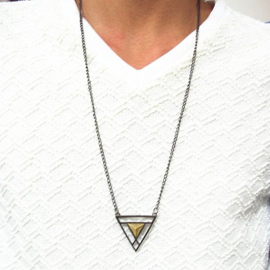 Double Triangle Long Chain - Fierce Finds Mobile Boutique  - 2