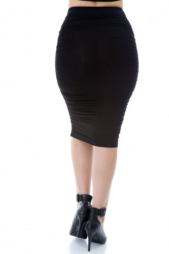 Give Curves Midi Skirt - Fierce Finds Mobile Boutique  - 5