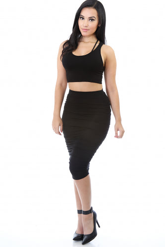 Give Curves Midi Skirt - Fierce Finds Mobile Boutique  - 2