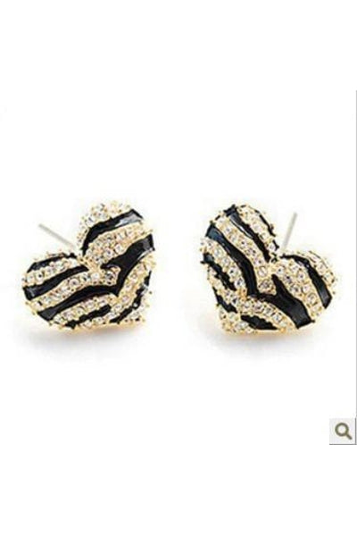Striped Heart Earrings - Fierce Finds Mobile Boutique  - 3