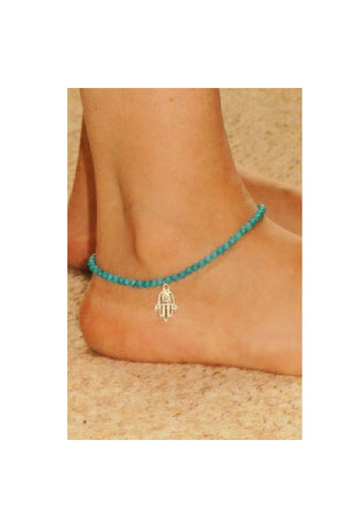 Beaded Hasma Anklet - Fierce Finds Mobile Boutique  - 1