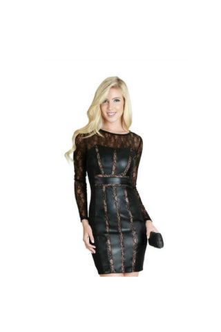 Black Lace Dress-Women - Apparel - Dresses - Cocktail-Fierce Finds Mobile Boutique