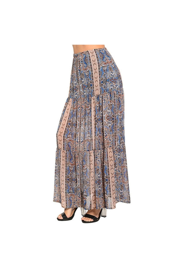 Boho Blue Maxi Skirt-Women - Apparel - Skirts - Maxi-Fierce Finds Mobile Boutique
