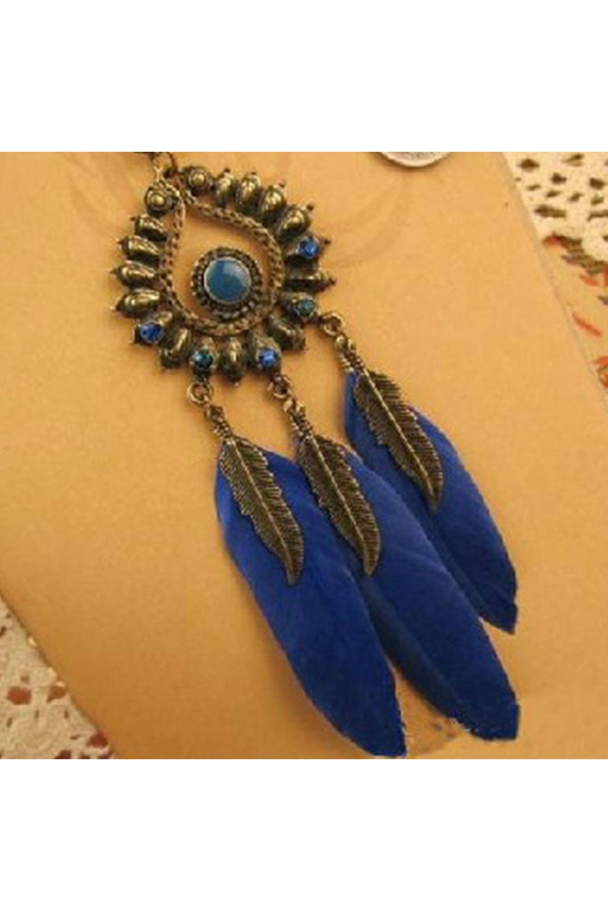 Boho Feather Long Necklace - Fierce Finds Mobile Boutique  - 1