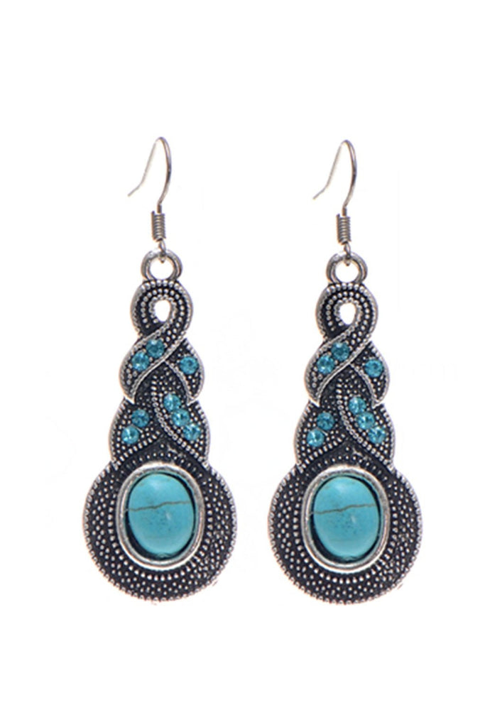 Boho Twist Turquoise Earrings-EARRINGS-Fierce Finds Mobile Boutique
