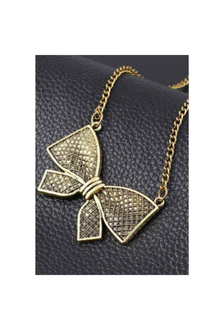 Bow Necklace - Fierce Finds Mobile Boutique  - 1