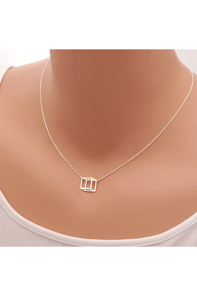Box Dainty Necklace- Stainless Steel - Fierce Finds Mobile Boutique  - 1