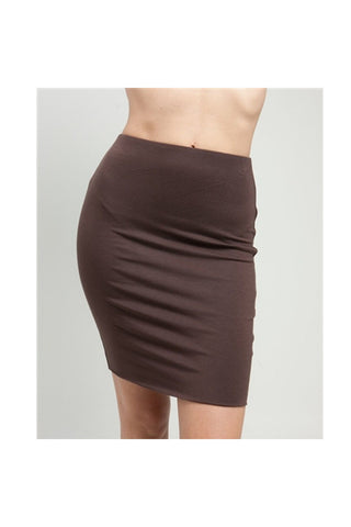Brown Stretch Mini Skirt - Fierce Finds Mobile Boutique  - 1