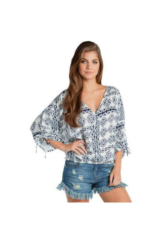 Button Down Print Top - Fierce Finds Mobile Boutique  - 1