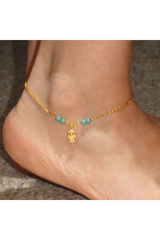 Chain Hasma Anklet - Fierce Finds Mobile Boutique  - 1