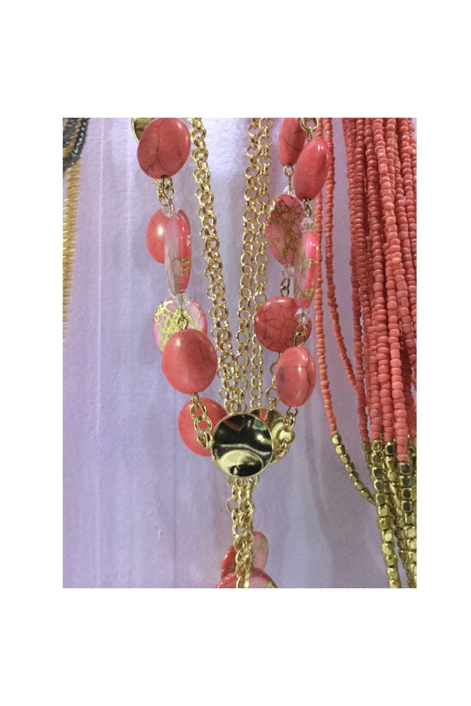 Coral Circles Necklace - Fierce Finds Mobile Boutique  - 1