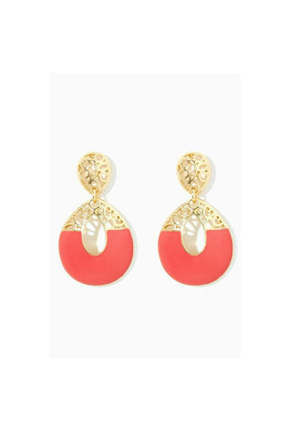 Coral It Out Earrings-EARRINGS-Fierce Finds Mobile Boutique
