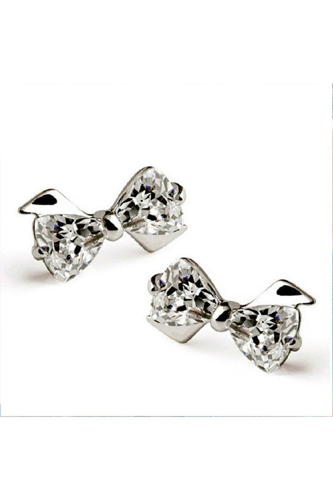 Crystal Bow Studs - Fierce Finds Mobile Boutique  - 1
