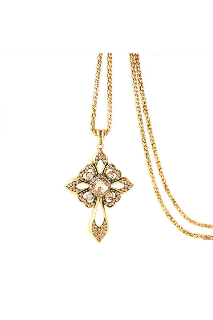 Crystal Cross Necklace - Fierce Finds Mobile Boutique  - 1