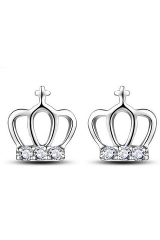 Dainty Crown Stud Earrings - Fierce Finds Mobile Boutique  - 1