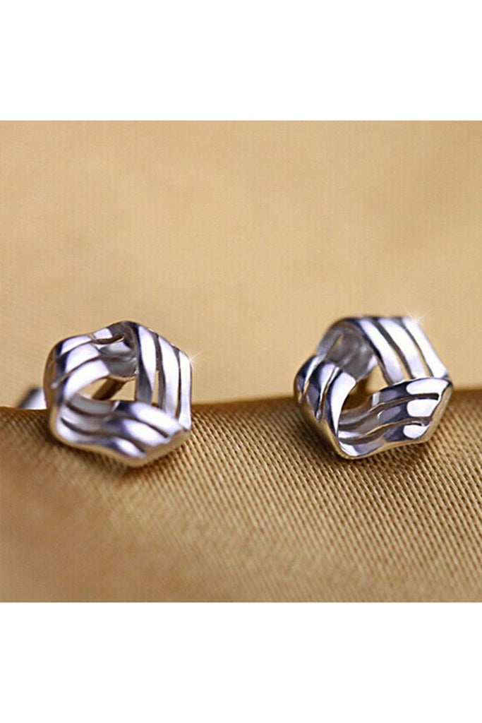 Dainty Silver Wrapped Stud Earrings-EARRINGS-Fierce Finds Mobile Boutique