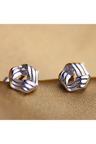 Dainty Silver Wrapped Stud Earrings - Fierce Finds Mobile Boutique  - 1