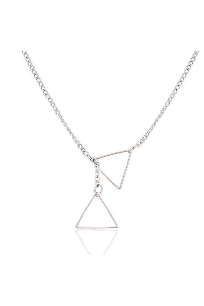Dainty Triangle Necklace-Women - Jewelry - Necklaces-Fierce Finds Mobile Boutique