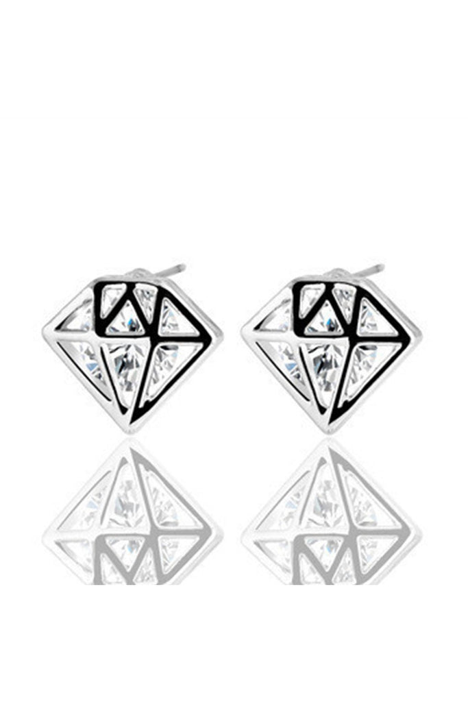 Diamond Stud Earrings-EARRINGS-Fierce Finds Mobile Boutique