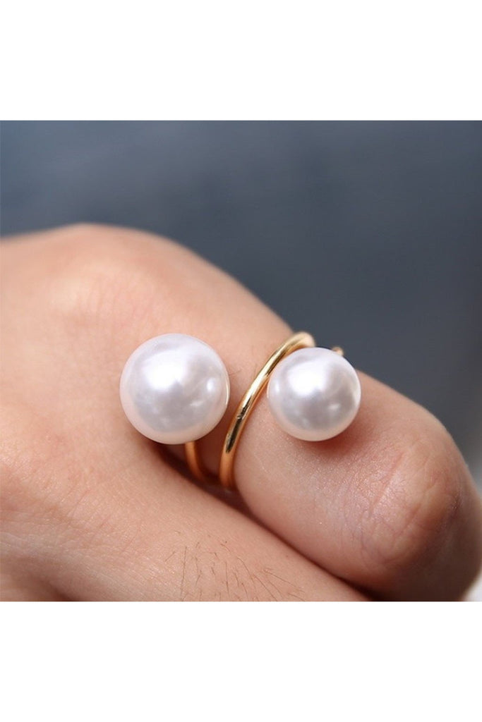 Double Pearl Ring-Ring-Fierce Finds Mobile Boutique