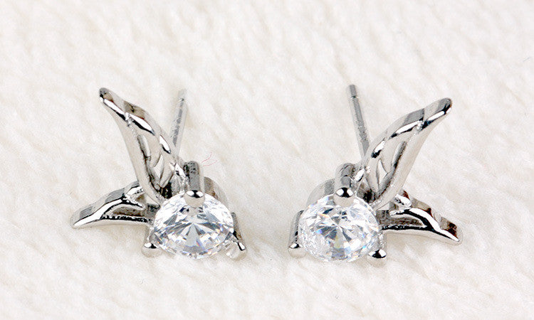 Sophisticated Wing Stud Earrings-EARRINGS-Fierce Finds Mobile Boutique
