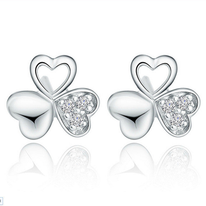 Clover Crystal Studs - Fierce Finds Mobile Boutique  - 1
