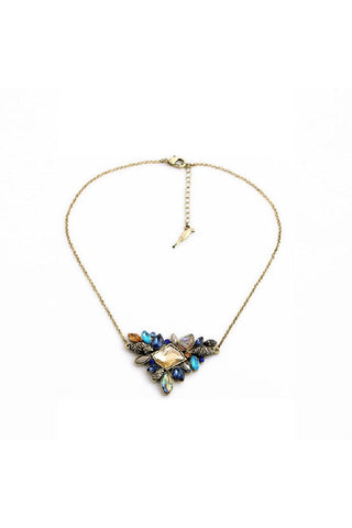 Elegant Cluster Crystal Necklace - Fierce Finds Mobile Boutique  - 1