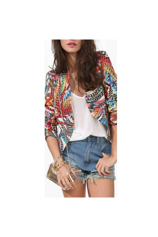 Feather Print Blazer - Fierce Finds Mobile Boutique  - 1