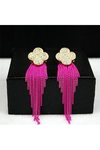 Fringe Clover Earrings-EARRINGS-Fierce Finds Mobile Boutique