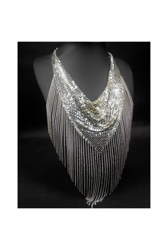 Fringe Mesh Necklace - Fierce Finds Mobile Boutique  - 1