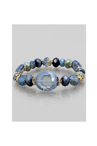 Glass Beads Stretch Bracelets - Fierce Finds Mobile Boutique  - 1