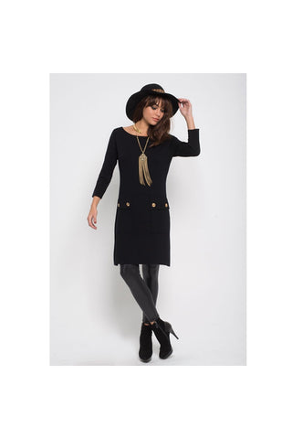 Gold Button Sheath - Fierce Finds Mobile Boutique  - 1