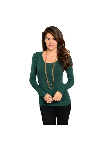 Green Lightweight Sweater - Fierce Finds Mobile Boutique  - 1