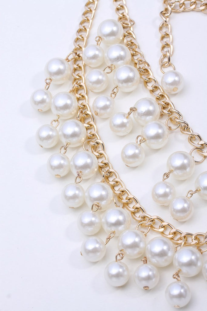 Layered Pearl Necklace - Fierce Finds Mobile Boutique  - 4