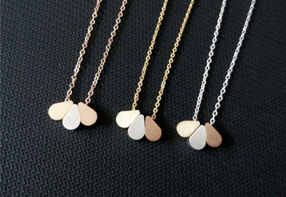 Raindrop Stainless Steel Necklace - Fierce Finds Mobile Boutique  - 3