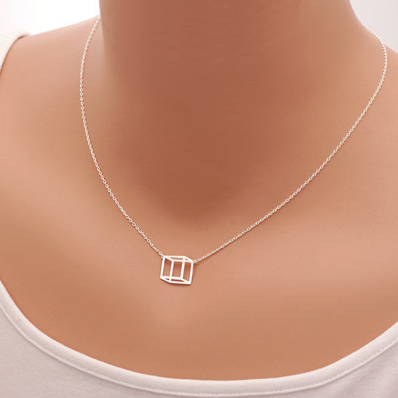 Box Dainty Necklace- Stainless Steel - Fierce Finds Mobile Boutique  - 2