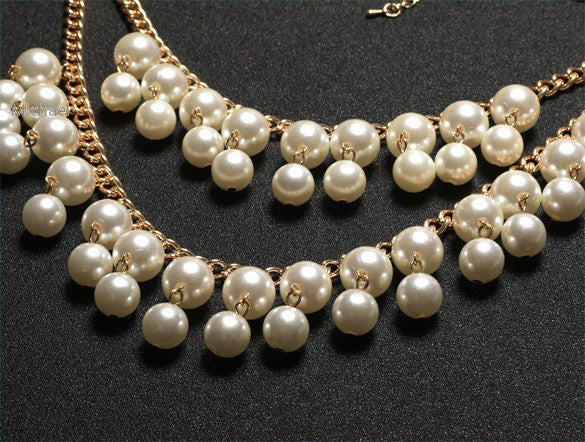 Layered Pearl Necklace - Fierce Finds Mobile Boutique  - 3