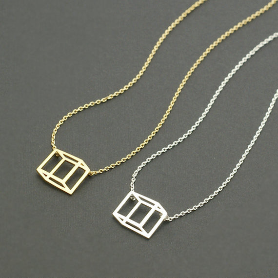 Box Dainty Necklace- Stainless Steel - Fierce Finds Mobile Boutique  - 4