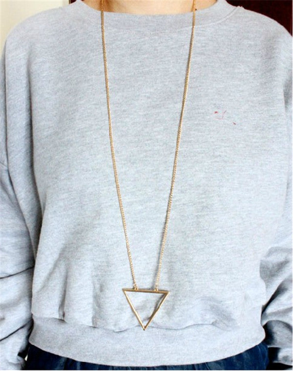 Open Triangle Long Chain - Fierce Finds Mobile Boutique  - 2