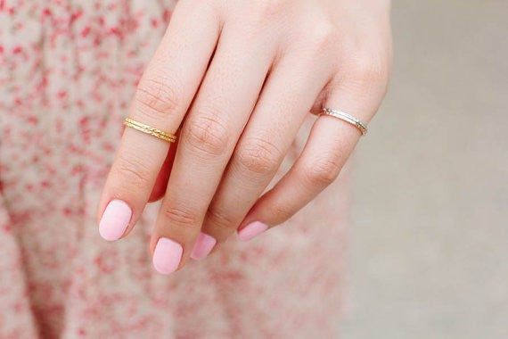 Hammered Gold Stackable Rings - Fierce Finds Mobile Boutique  - 6