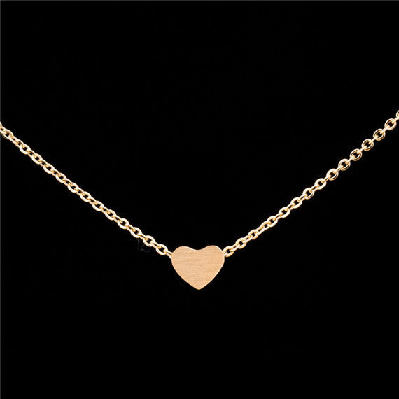 Tiny Heart Necklace  -Stainless Steel - Fierce Finds Mobile Boutique  - 5
